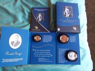 2016 Ronald Reagan Coin and Chronicles Set. Perfect.