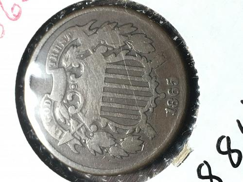 1865 Two Cent Item 0918811