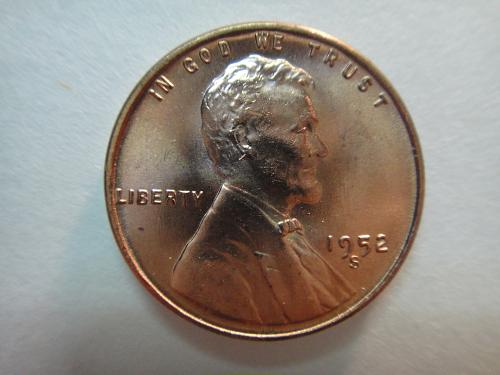 1952-S Lincoln Cent MS-66 (GEM+) RED Exceptional Coin For Date!