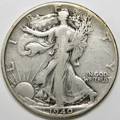 1940 P Walking Liberty Half Dollar #4