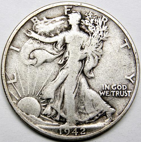 1942 S Walking Liberty Half Dollar #4
