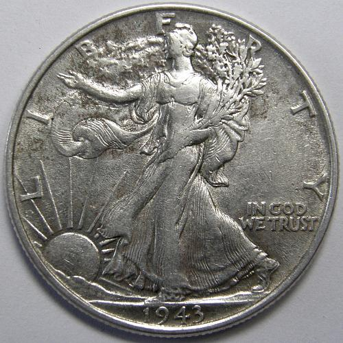 1943 P Walking Liberty Half Dollar #3