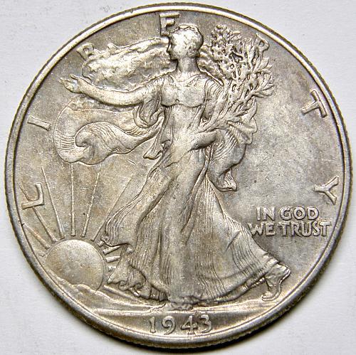 1943 P Walking Liberty Half Dollar #8