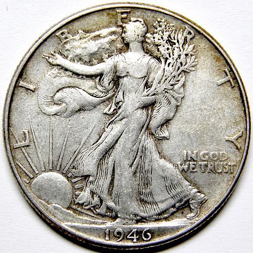 1946 P Walking Liberty Half Dollar #5