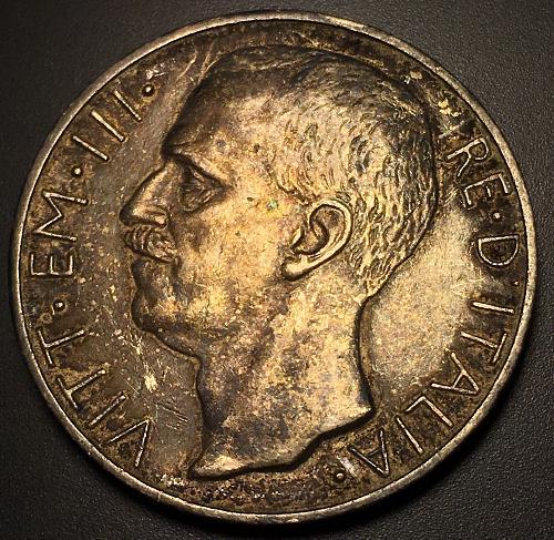 1927 R Italy 10 Lire - Silver .835