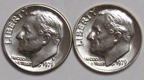 1979 P&D Roosevelt Dimes in BU