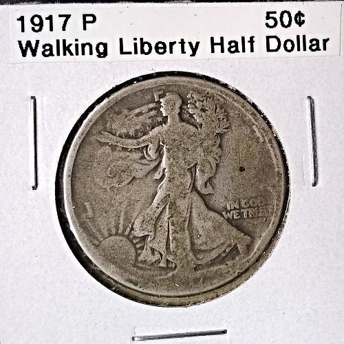 1917 P Walking Liberty Half Dollar - 6 Photos!