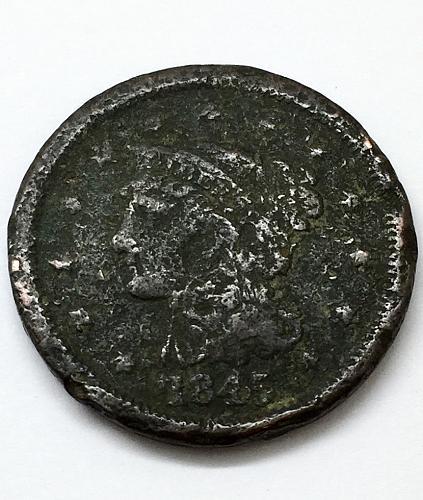 1845 Braided Hair Liberty Head Large Cent