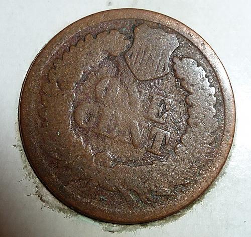 G 1869 Indian Cent Grades GOOD ( M7618 )