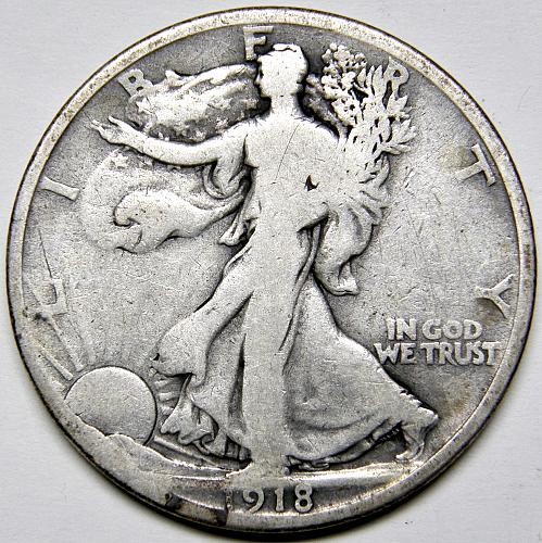 1918 P Walking Liberty Half Dollars #3