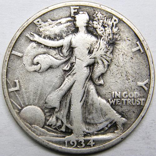 1934 P Walking Liberty Half Dollars #2