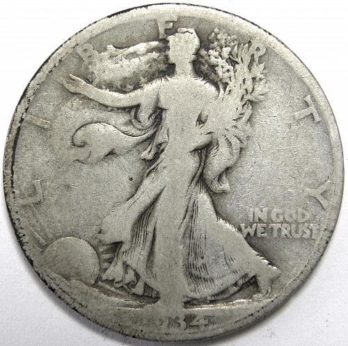 1934 S Walking Liberty Half Dollar #1