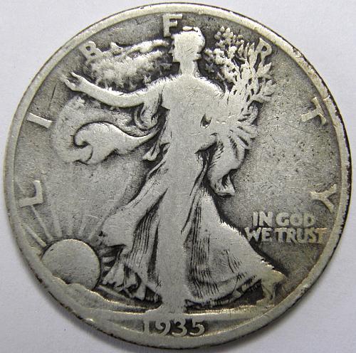 1935 P Walking Liberty Half Dollar #1