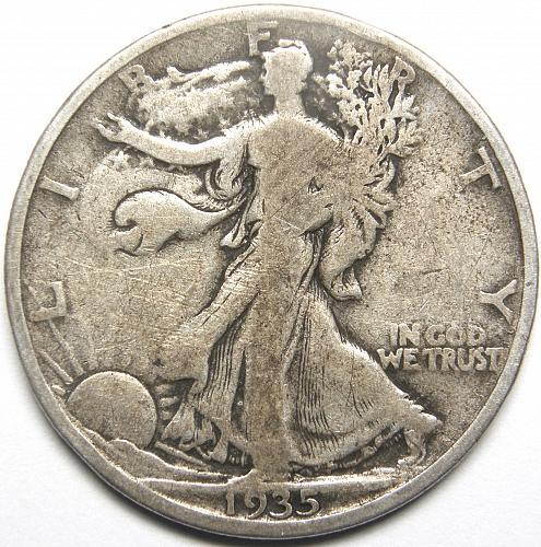1935 P Walking Liberty Half Dollar #3