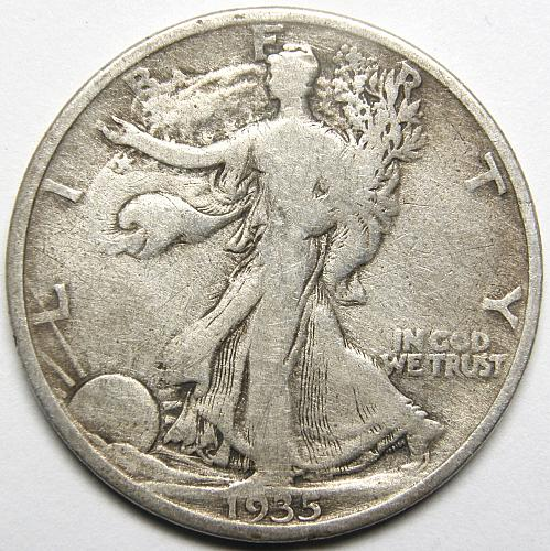 1935 P Walking Liberty Half Dollar #4