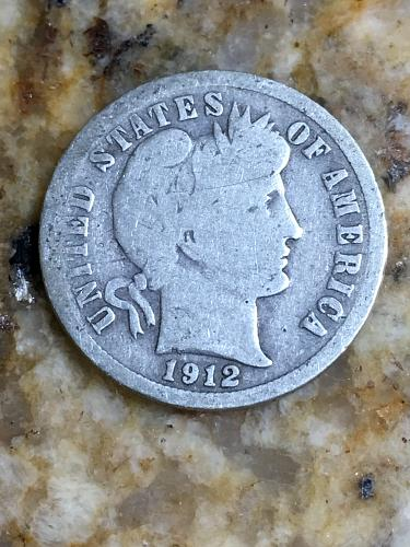 1912 Barber Dime Item 1018118