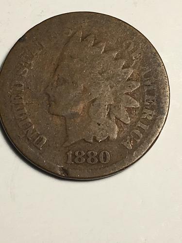 1880 Indian Head Cent Item 1018172