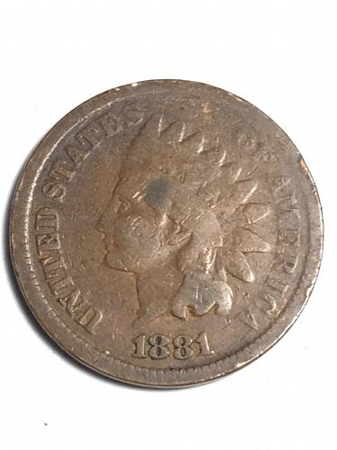 1881 Indian Head Cent Item 1018181