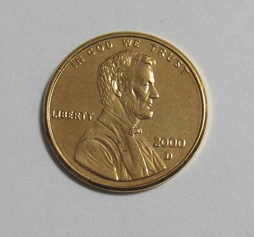 2000-D 1 Cent - Lincoln Memorial Cent