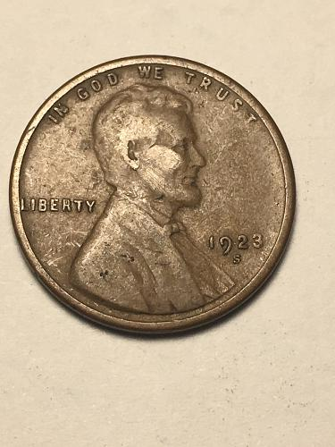 1923 S Lincoln Wheat Cent Item 1018223