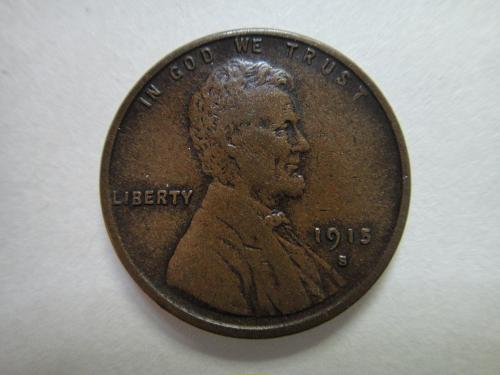 1915-S Lincoln Cent Very Fine-25 Nice Milk Chocolate Brown With Minimal Marks!
