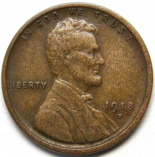 1918 S Lincoln Wheat Cent #2 XF EF