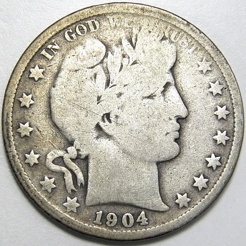 1904 P Barber Half Dollar #1