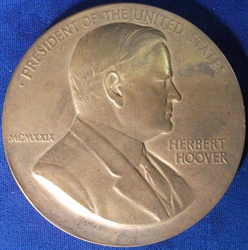 Herbert Hoover Medal, 76mm, Bronze