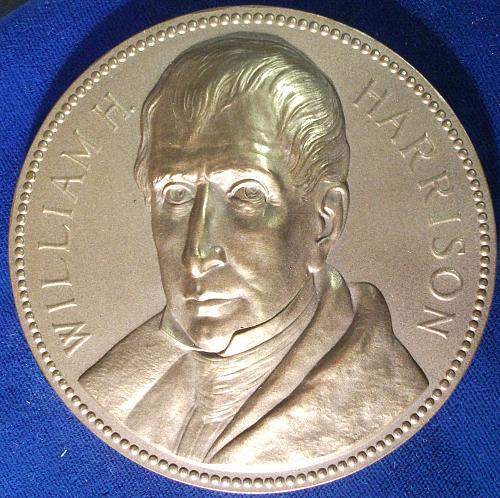 William H. Harrison Medal, 76mm, Bronze