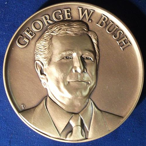 George W. Bush Bronze Official Inaugural Medal, First Term