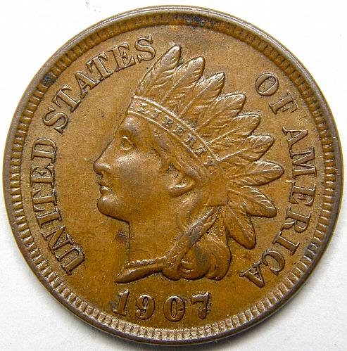 1907 Indian Head Cent #23