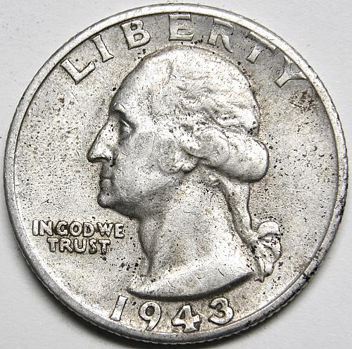 1943 S Washington Quarter #5