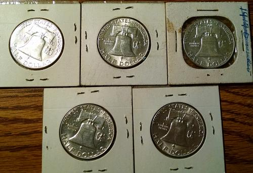 1963 D Franklin Half Dollars