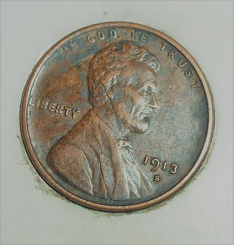 1913-S Extra Fine Lincoln Wheat Cent XF ( # 1649 )