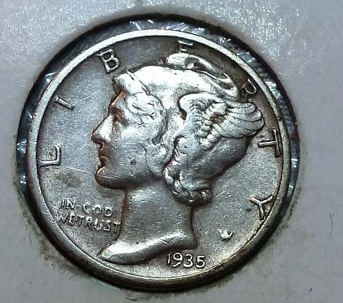 1935-S AU Mercury Dime About Uncirculated  ( 83031)