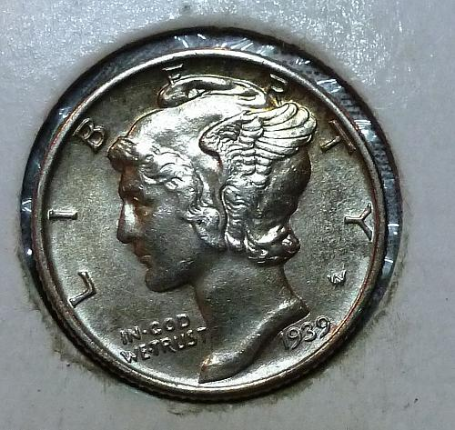 1939-P UNC Mercury Dime Uncirculated  ( 83037)