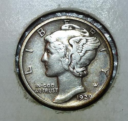 1929-P XF Mercury Dime Extra Fine  ( 8303Q )