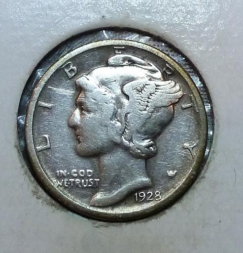1928-D Very Fine Mercury Dime   ( 8303O)