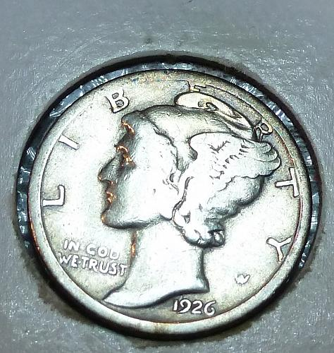 1926-S Mercury Dime Grades VERY GOOD ( 8073J )