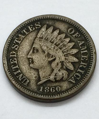 1860 Indian Head Cent - Rounded Bust