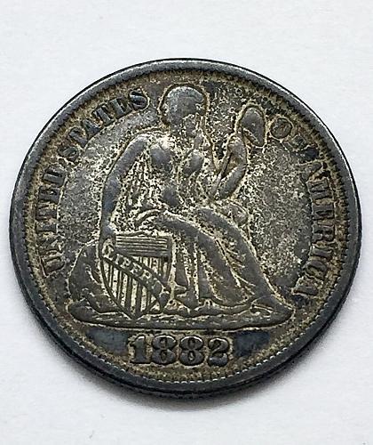 1882 Seated Liberty Dime