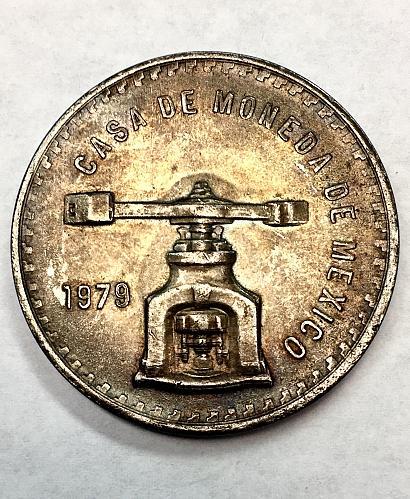 1979 MO Mexico Type III 1oz .925 Silver Peso