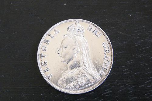 Great Britain, 1887 Queen Victoria , Silver Double Florin