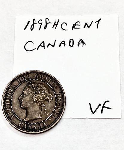 1898 H Canada Cent