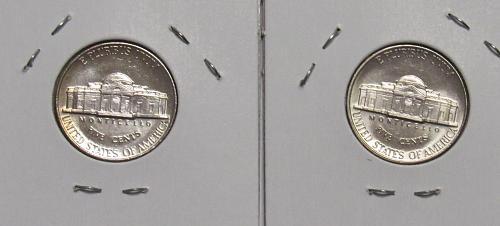 1990 P&D Jefferson Nickels in BU