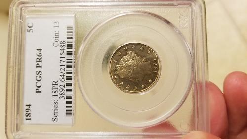 Liberty nickel 1894 PCGS PR64