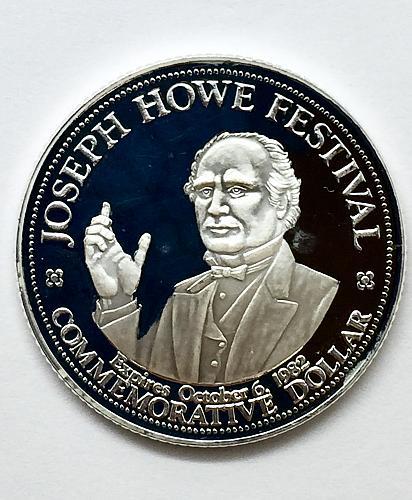 1982 Joseph Howe Festival Commemorative Dollar Token