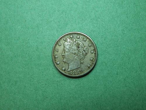 1889 Liberty V Nickel Extra Fine Coin   R55