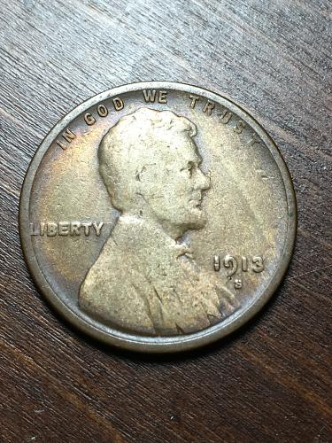 1913 S Lincoln Wheat Cent Item 1018415