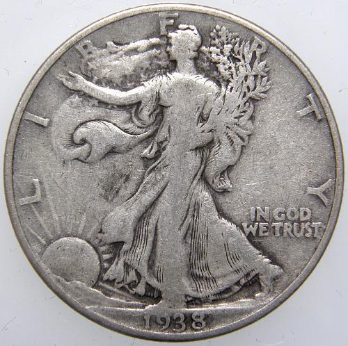 1938 P Walking Liberty Half Dollar #7